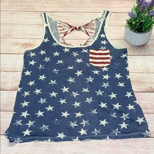 Others Follow American Flag Tank Top